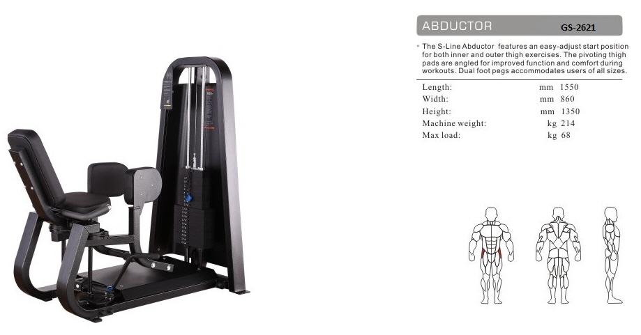 Abductor A GS-2621 - 155cm×86cm×135cm 214kg