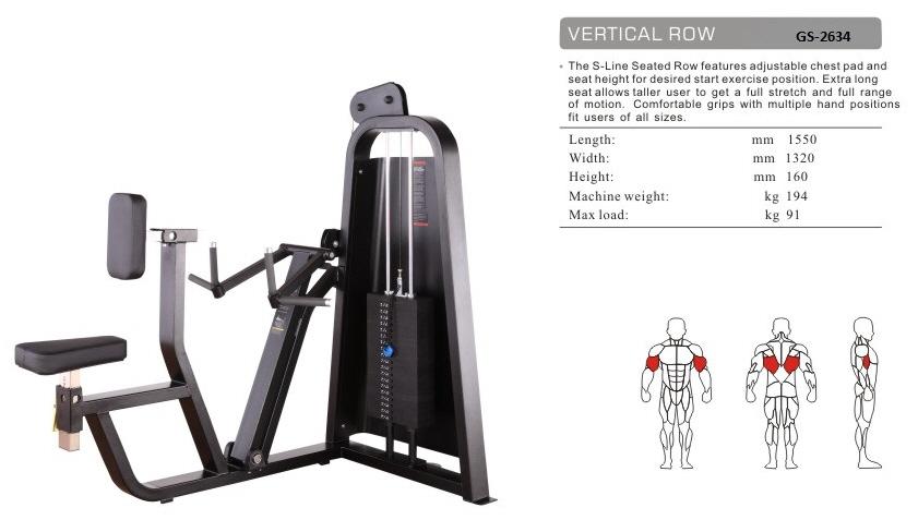 Vertical Row GS-2634 - 155cm×132cm×160cm 194kg