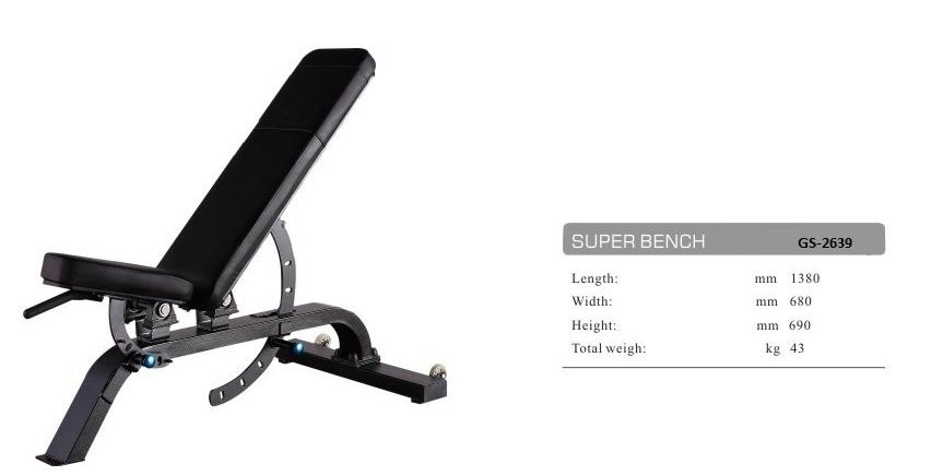 Adjustable Bench GS-2639 - 162cm×76cm×81cm 61kg