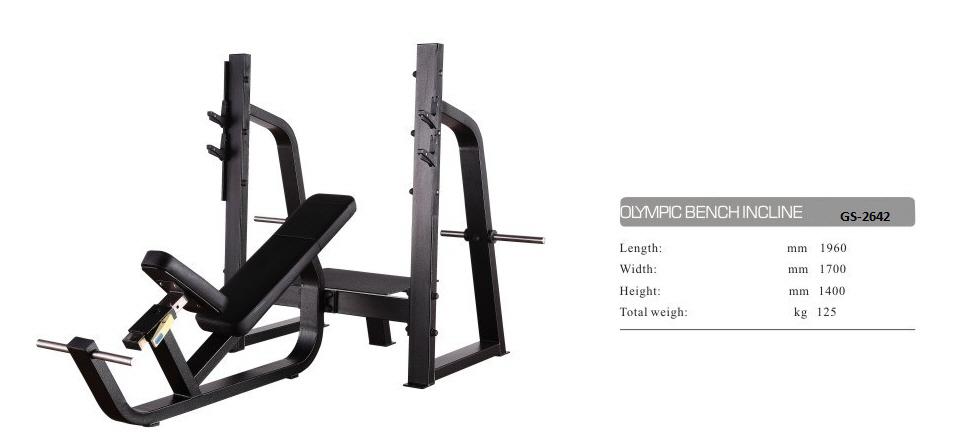 Olympic Bench Incline GS-2642 - 201cm×178cm×140cm 127kg