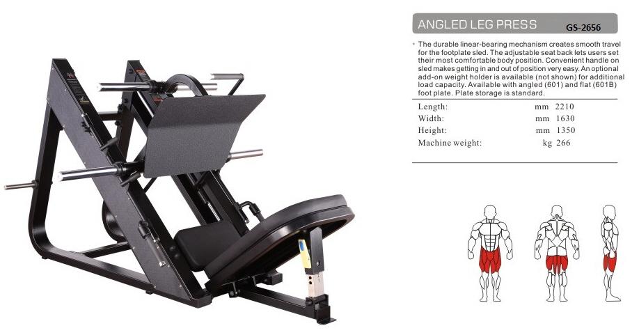 Leg Press GS-2656 - 217cm×161cm×126cm 172kg