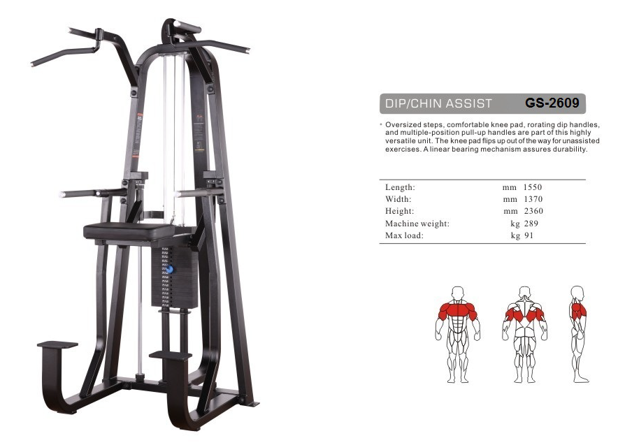 DIP/Chin Assist GS-2609 - 155cm×137cm×236cm 289kg